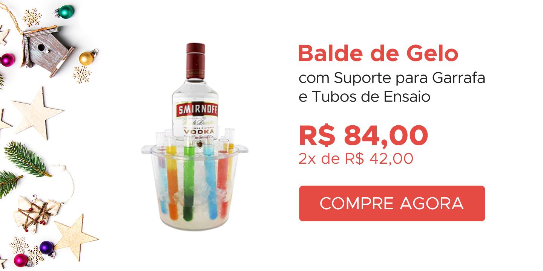 Balde de Gelo com suporte para garrafa + tubos de ensaio