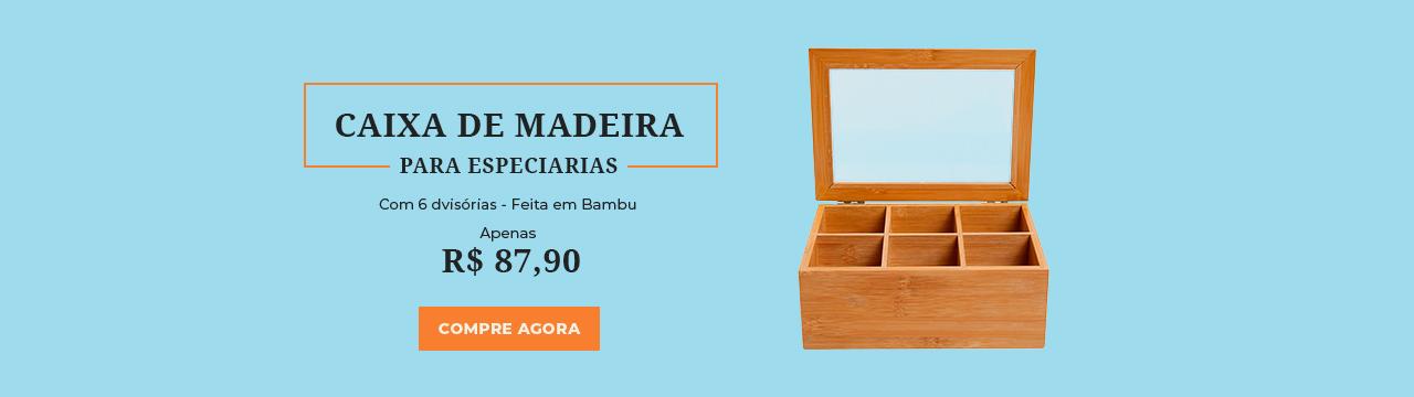 Caixa de Madeira para Especiarias
