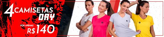 4 camisetas femininas por R$140