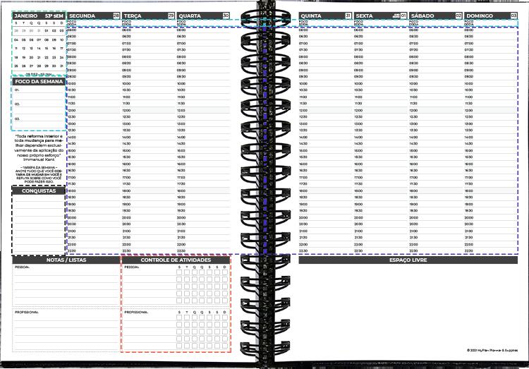 layout Semanal 2021