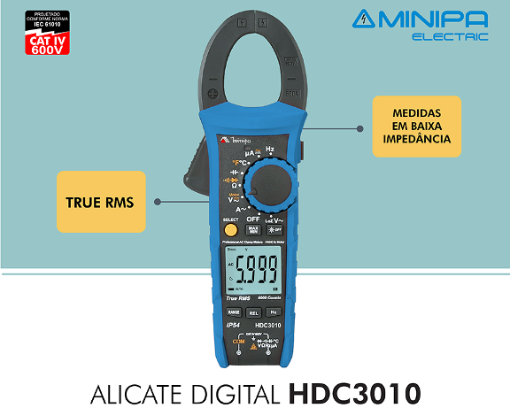 Alicate Amperímetro Minipa HDC-3010