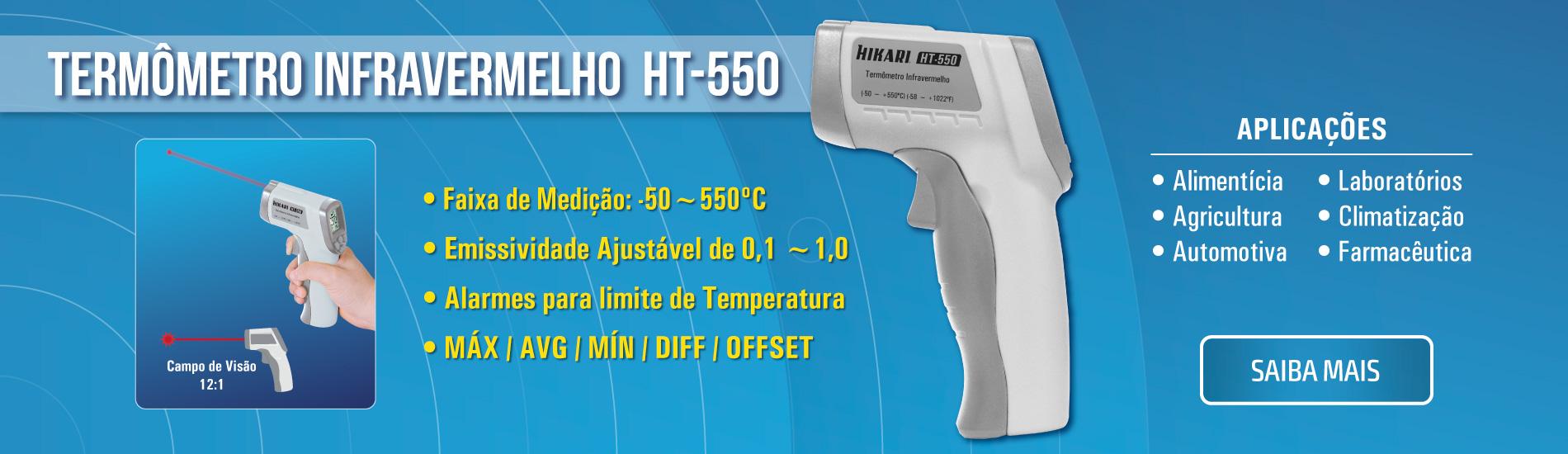Termômetro Digital -50~550ºC Hikari HT-550