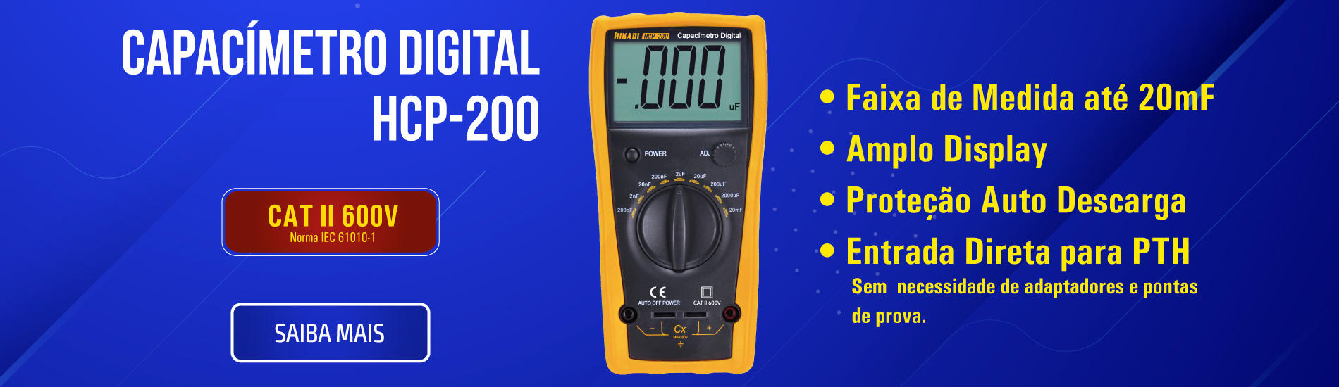 Capacímetro Digital Hikari HCP-200