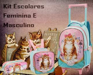 kit mochila escolar masculino e feminina com rodinhas