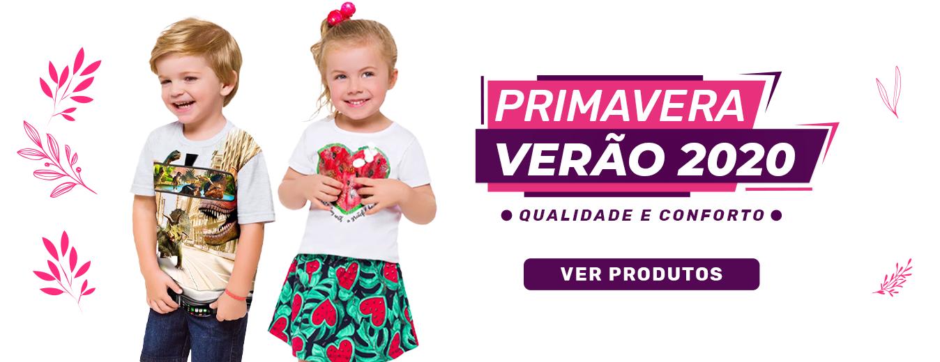 Primavera Verão - Moda Infantil 2020 - Produtos a Pronta Entrega para todo o Brasil