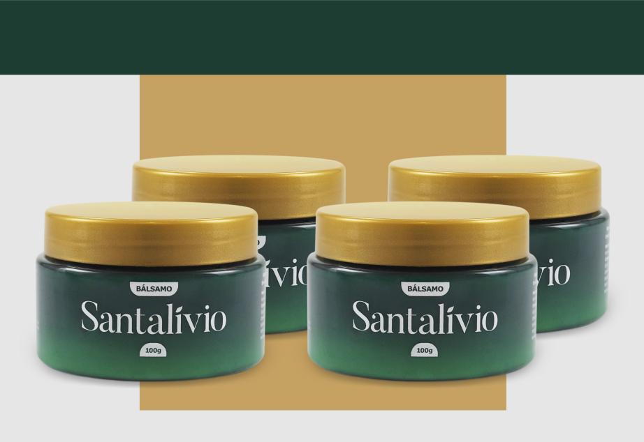 Bálsamo Santalívio - 100g - 4 Unidades