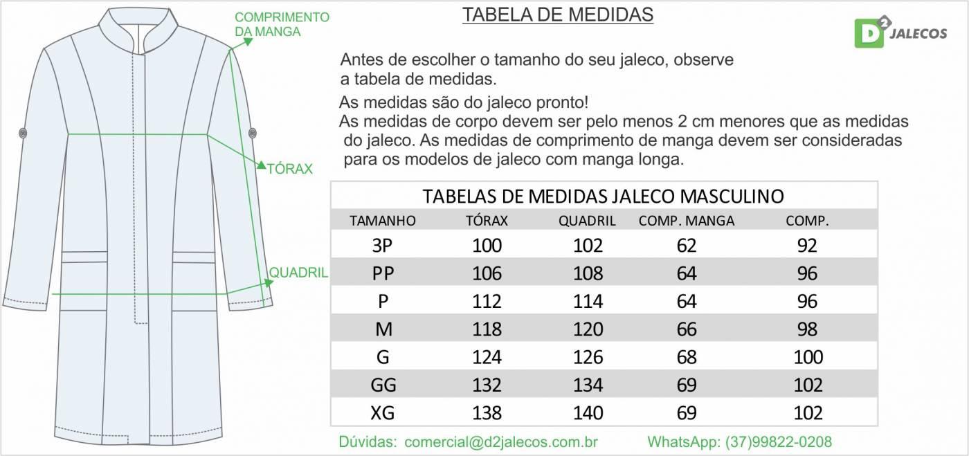 tabela de tamanhos