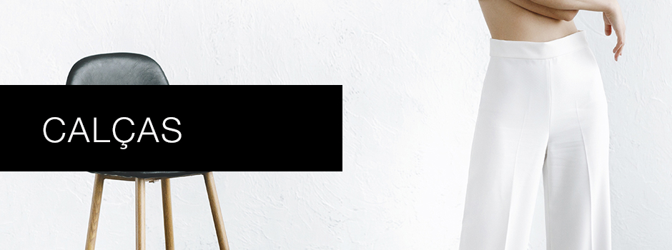 Banner informativo categoria de calças