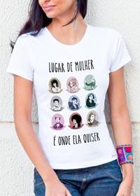 Camiseta lugar de mulher