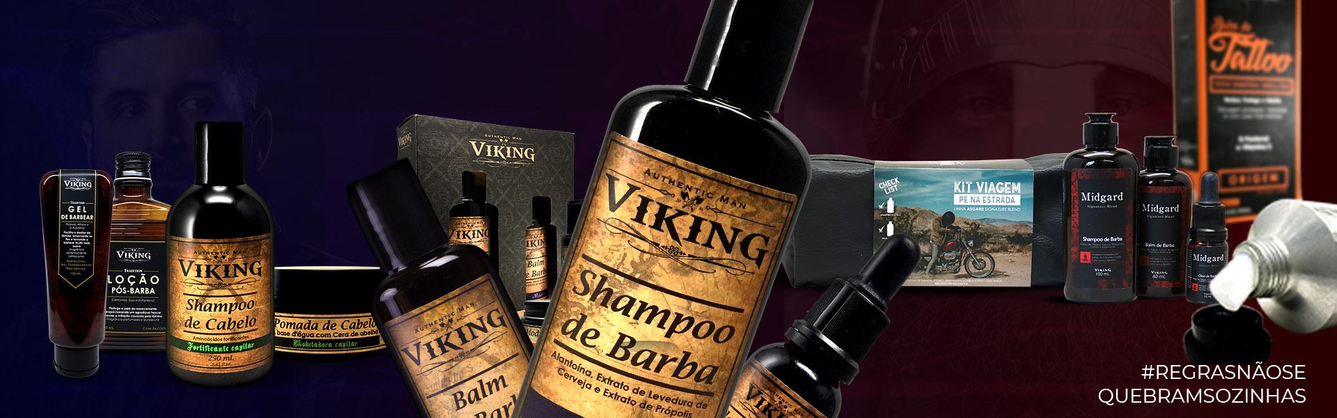 Shampoo, Condicionador, Balm, Modelador e Óleo de Barba