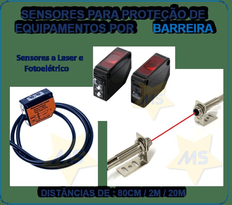 Sensores para aplicações em segurança ou alarme
