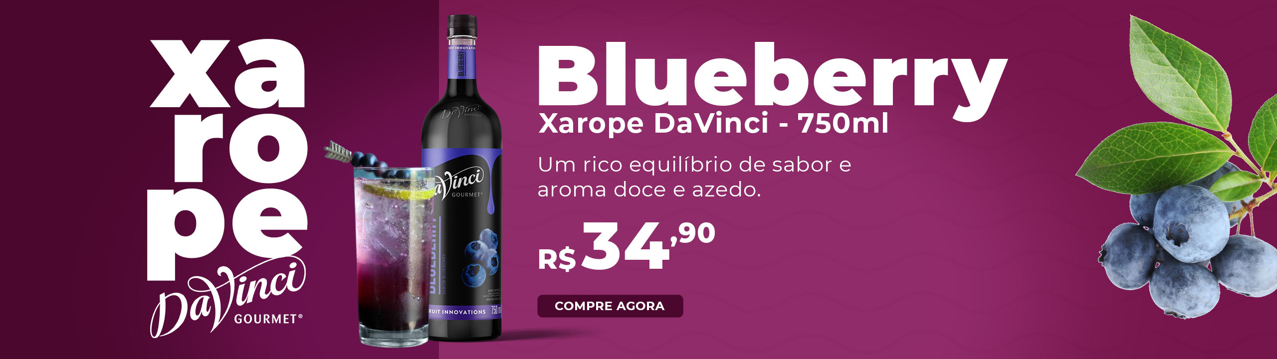 Xarope para Drinks DaVinci - Blueberry