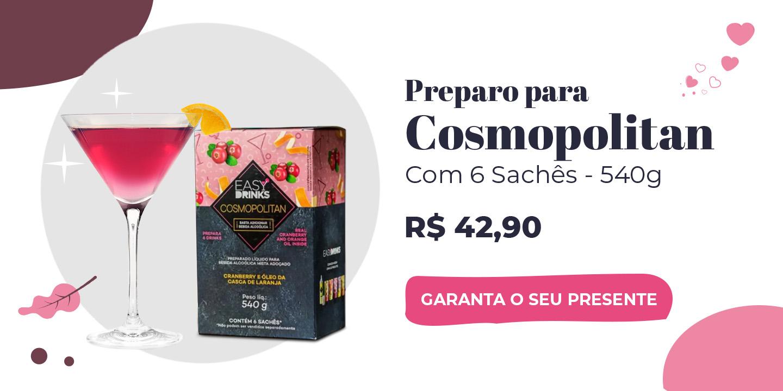 Preparado Cosmopolitan Com 6 Sachês Easy Drinks 540g