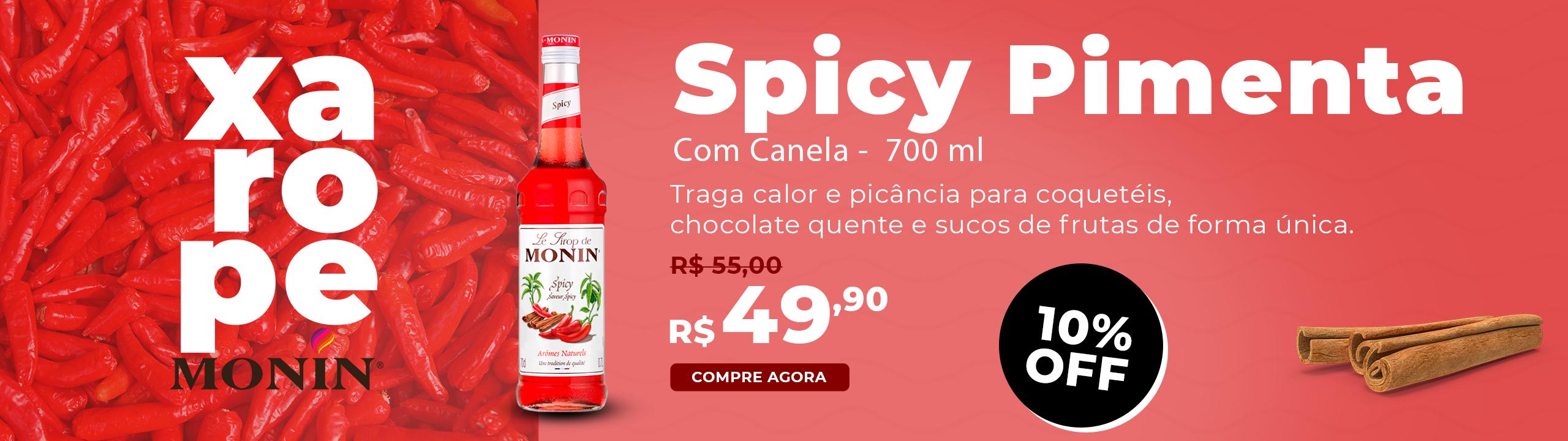 Xarope Monin Francês Spicy Pimenta 700ml