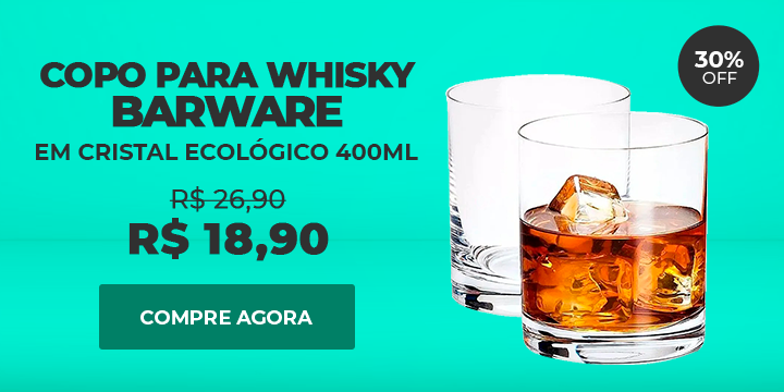 Copo para Whisky Barware em Cristal Ecológico 400ml