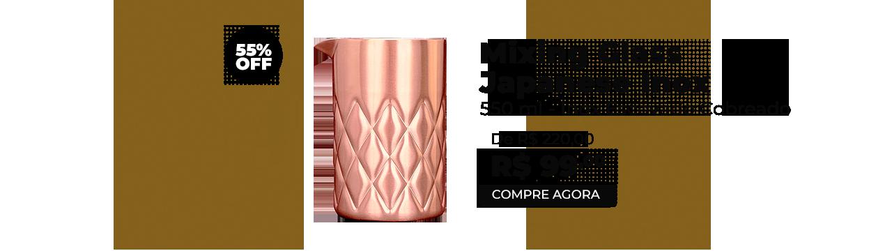 Copo Mixing Japanese Inox Escovado Cobreado 550ml