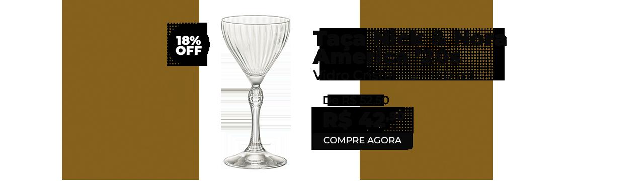 Taça Vidro Cristalino America20's Nick & Nora 140ml