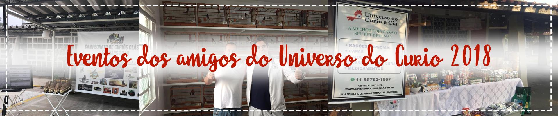 Eventos dos amigos do Universo do Curio 2018