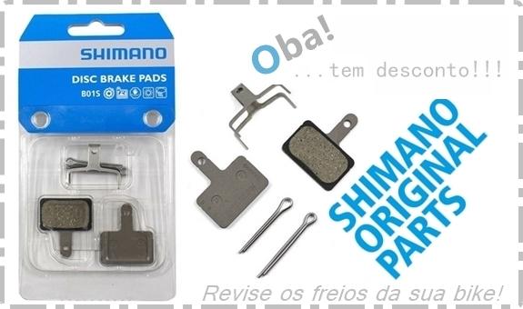 OFERTA SHIMANO - PASTILHA FREIO ORIGINAL