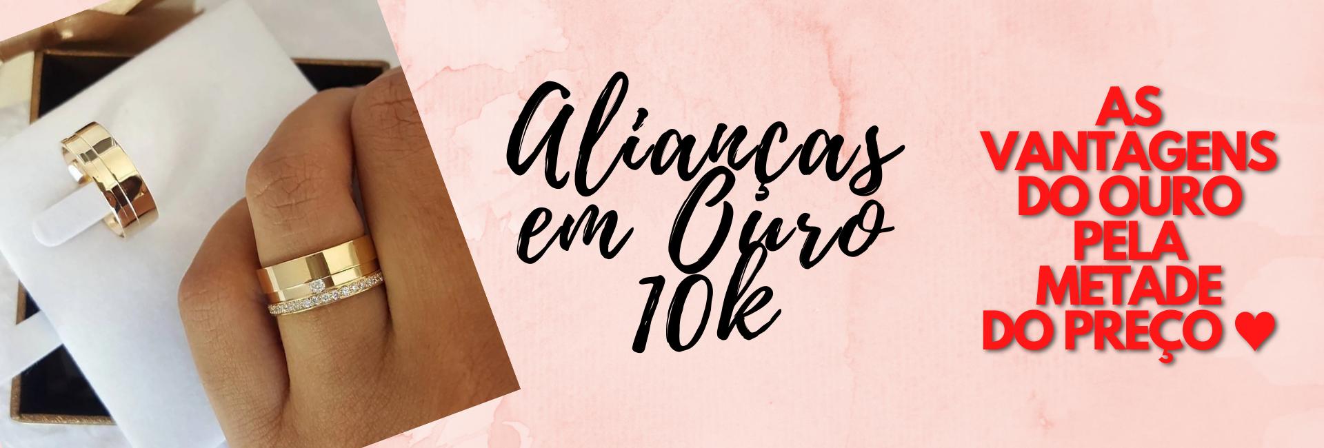 ALIANÇAS OURO 10K NOIVADO CASAMENTO
