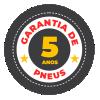 Garantia de Pneus 5 anos