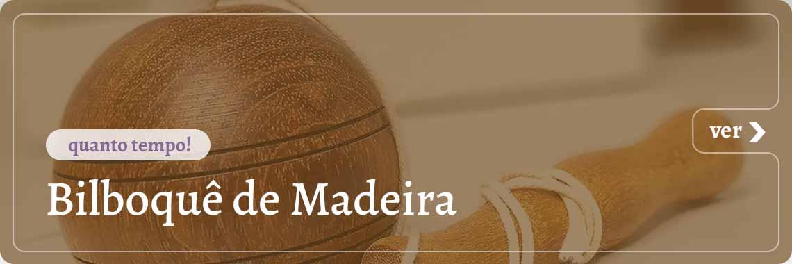 Bilboque de Madeira Redondo