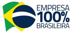 Selo representando que a empresa é 100% brasileira