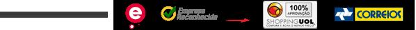 Certificados: Ebit, Empresa Reconhecida Buscapé, Shopping UOL e Correios