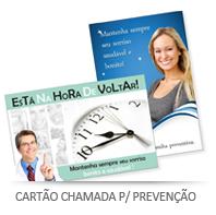 Cartão chamada para prevençã