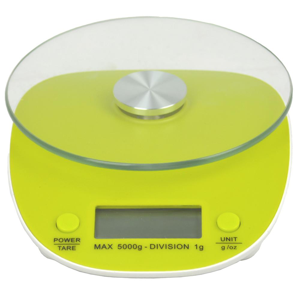 Balança Eletrônica Digital de Cozinha 5kg CBR02986 Verde 2