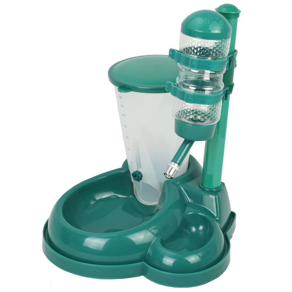 Comedouro e bebedouro automático para cães e gatos CBR04355 verde