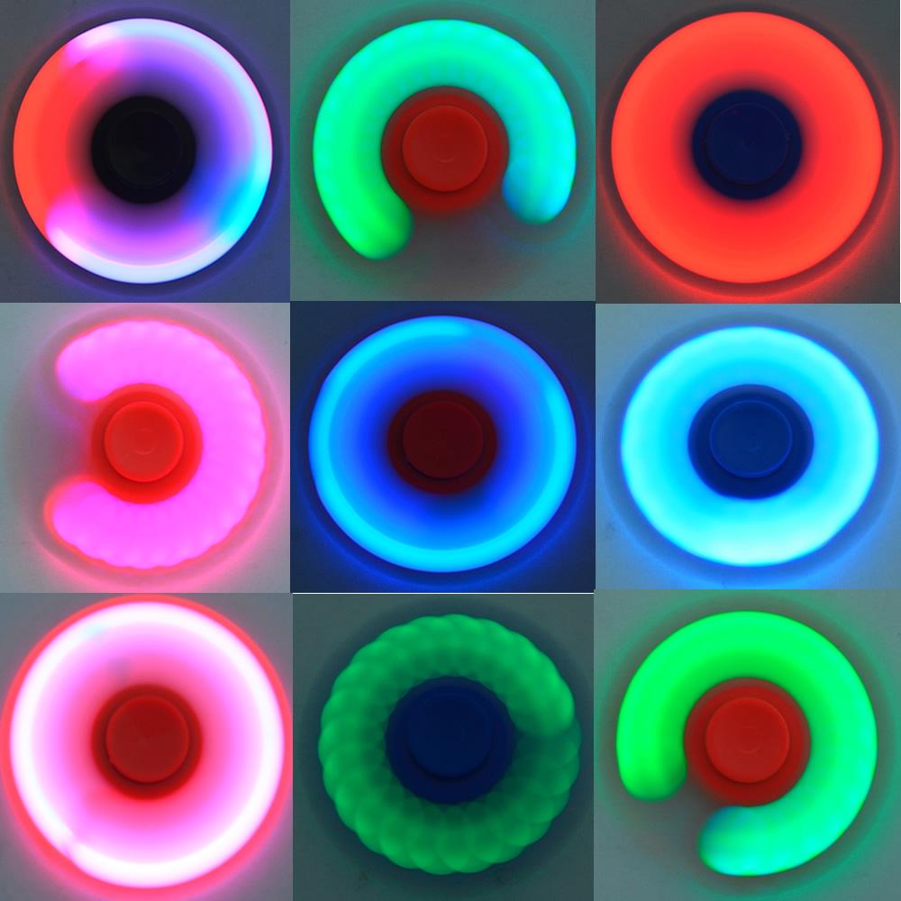 Fidget Hand Spinner Anti Stress com LED AMARELO CBRN03853
