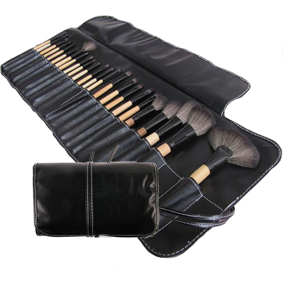 Kit de 24 pinceis para maquiagem profissional com estojo CBR03457