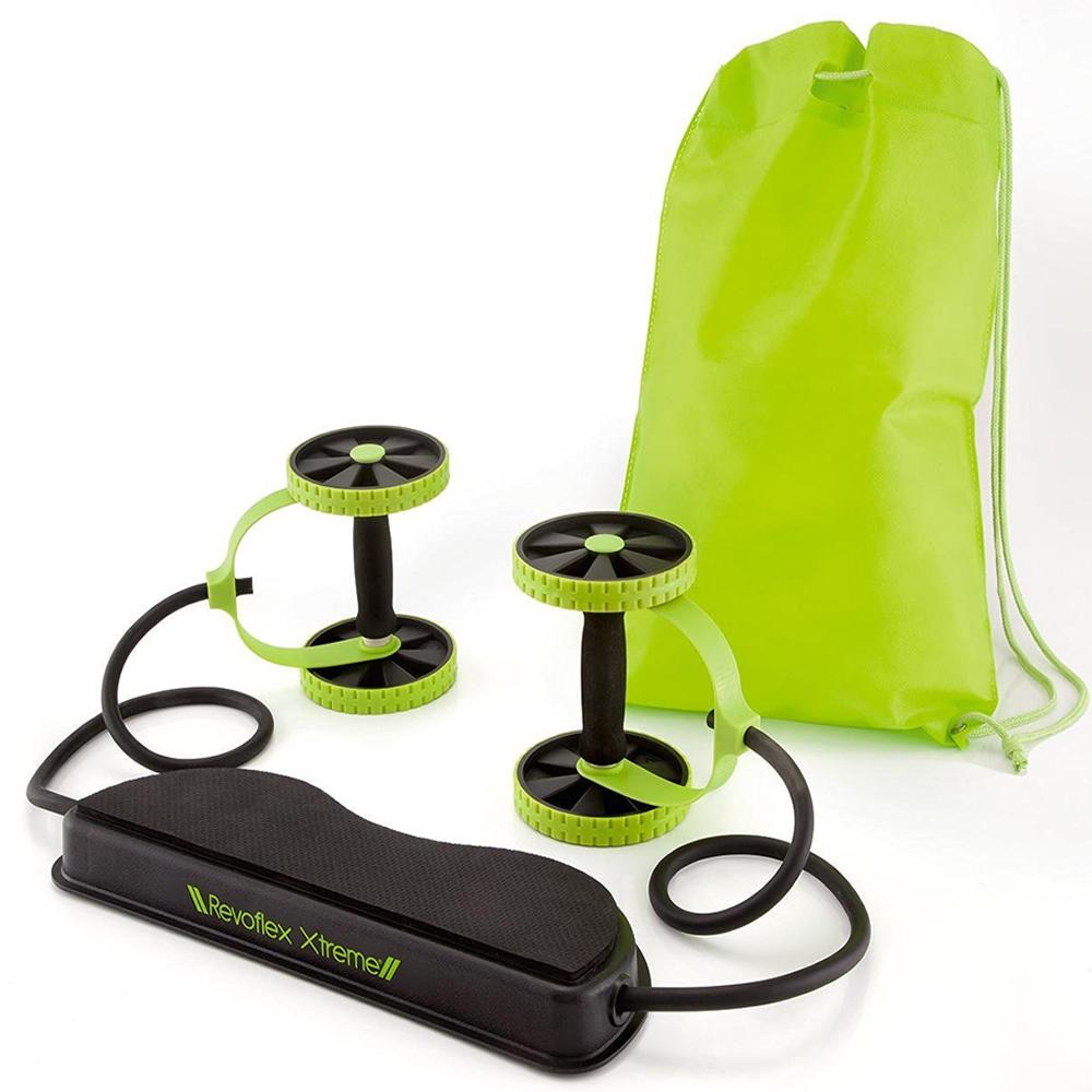 Roda para exercício abdominal elastico bolsa Revoflex Xtreme CBR03075