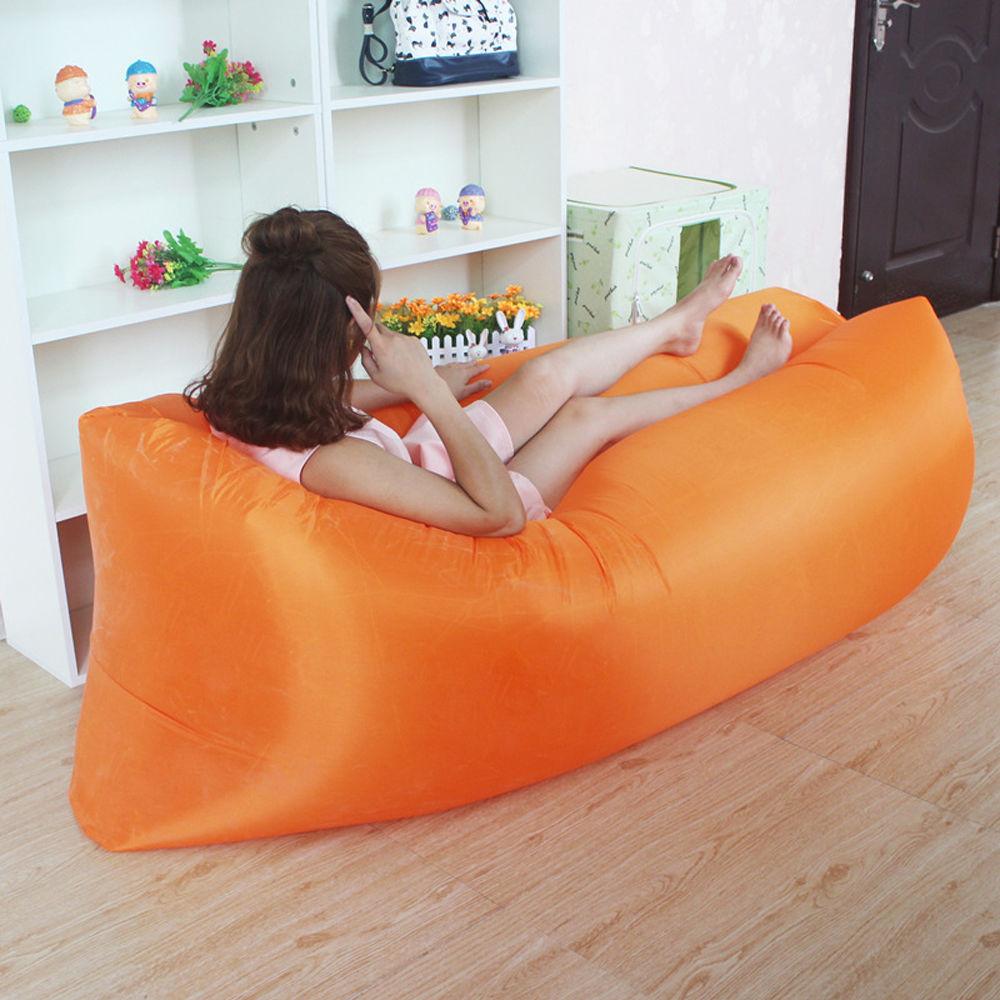Sofa Inflavel Puff Magico com bolsa transporte LARANJA CBRN03747