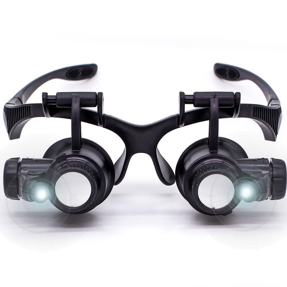 Óculos Lupa Cabeça Profissional Jogo 4 Lentes CBR03594