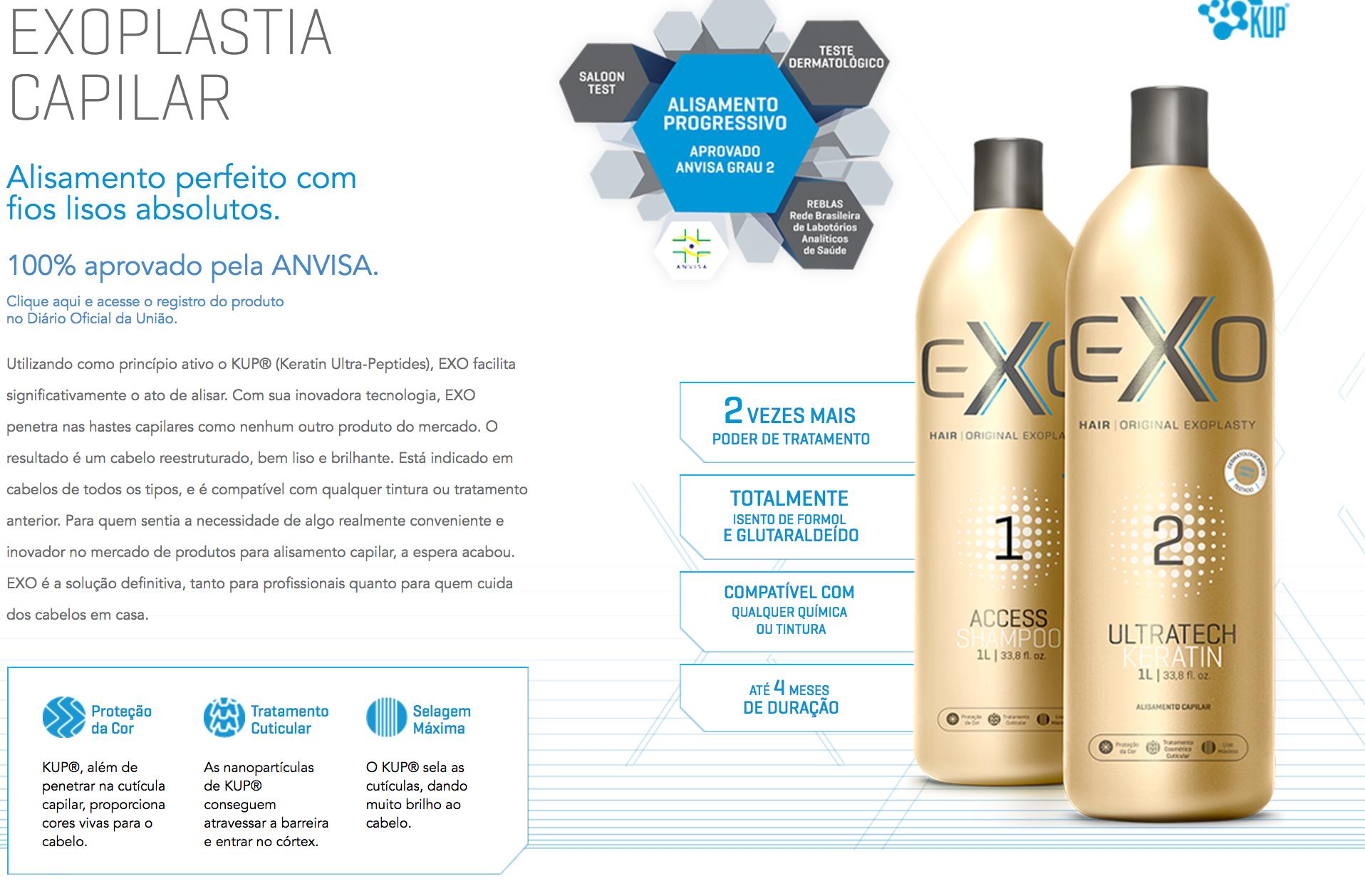 9508c6f39 Exo Hair exoplastia Ultratech Keratin 500ml passo 2 alisamento sem ...