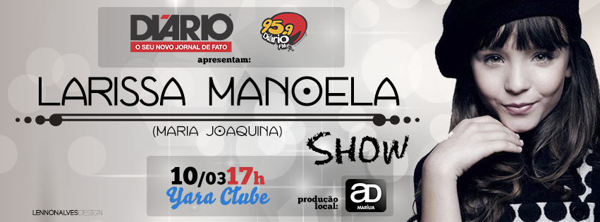 5ceb453ac6f82 Compre aqui seu ingresso para Larissa Manoela   Teatro