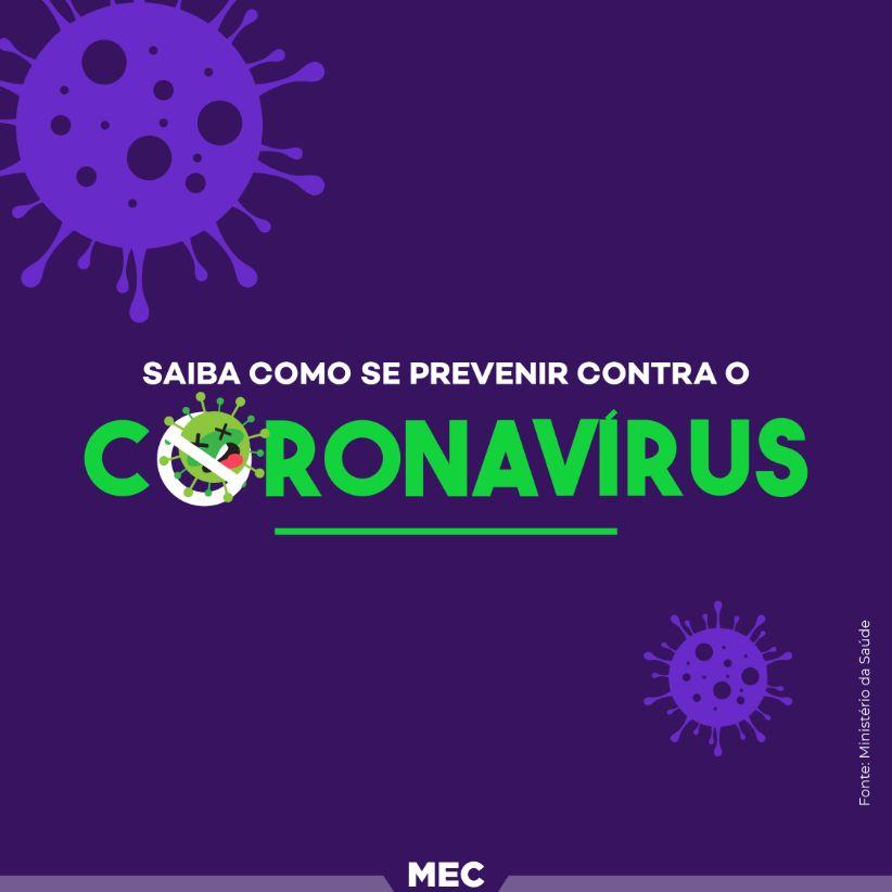 Saiba como se previnir contra o coronavirus