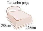tamanho da peca de 265m x 245m