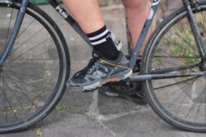 sapatilha no pedal