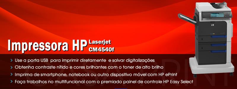 Multifuncional HP LaserJet Enterprise CM4540f MFP Color