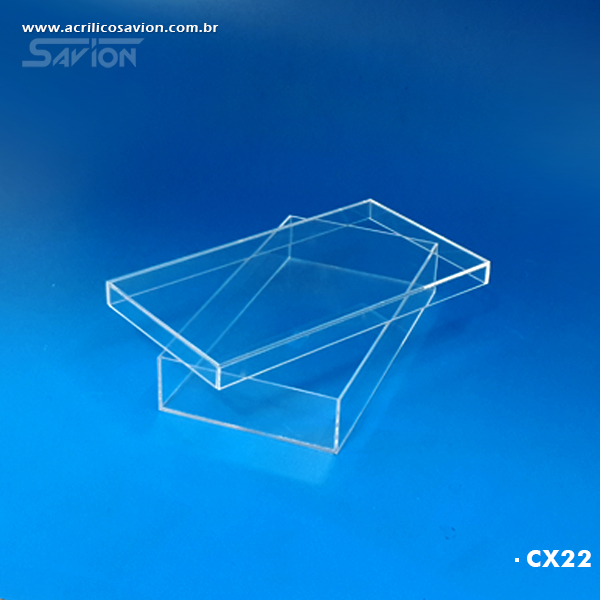 caixa de acrilico