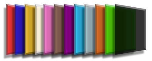 acrilico colorido