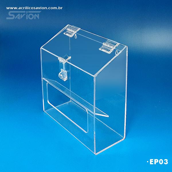 caixa acrilico epi