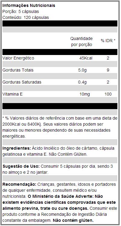 a2249fae4 Comprar CA Probiótica Óleo de Cártamo 120 Cápsulas menor preço