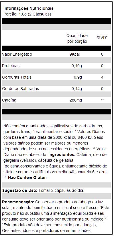 Composição(Bula) Lipodrene Neo Nutri