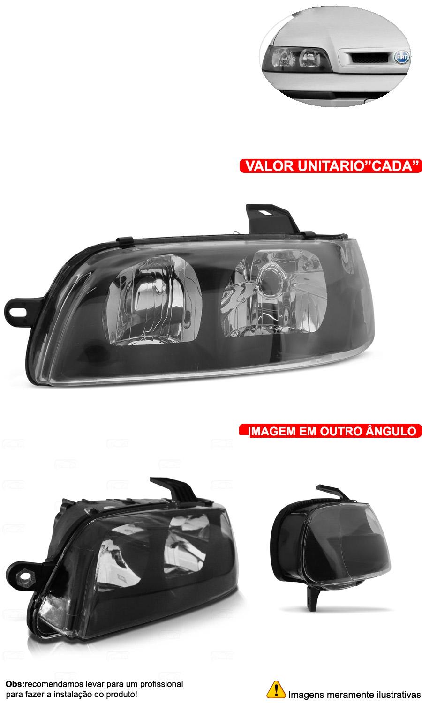Par Farol Palio Wekkend Siena G2 Fire 01-03 Mascara Negra - Cabeça Car