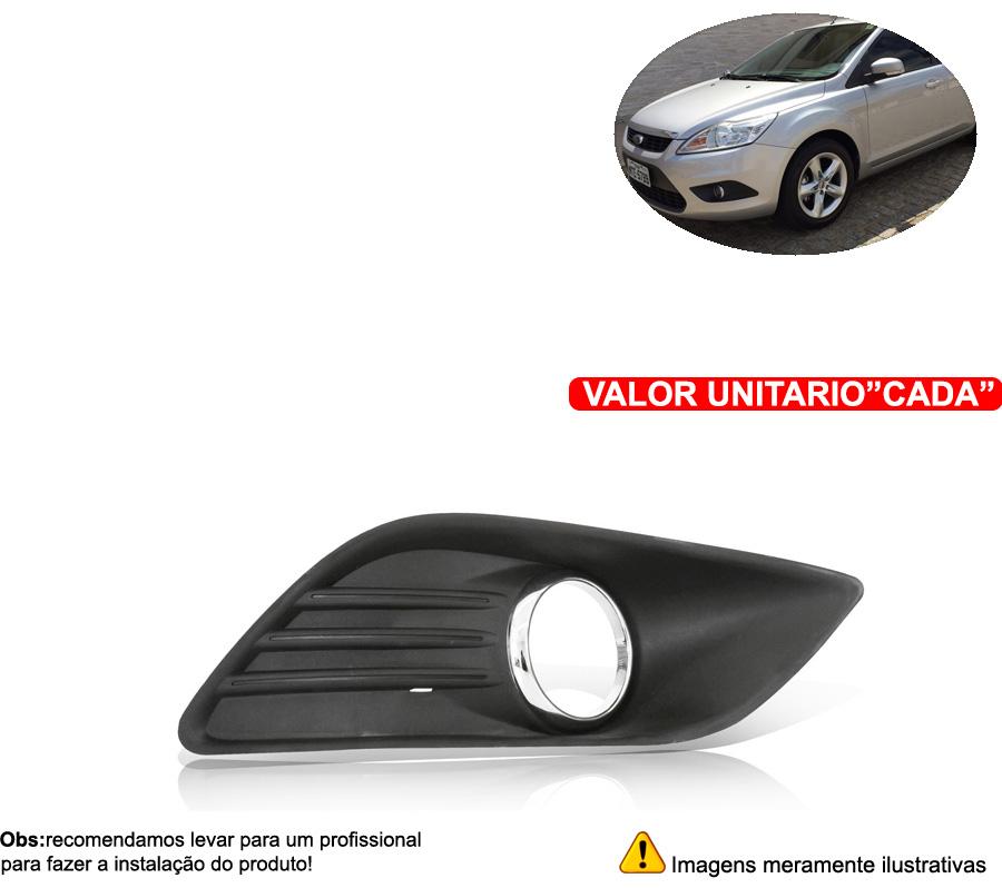 Grade Do Milha Focus 2009 2010 2011 2012 Aro Cromado - Cabeça Car