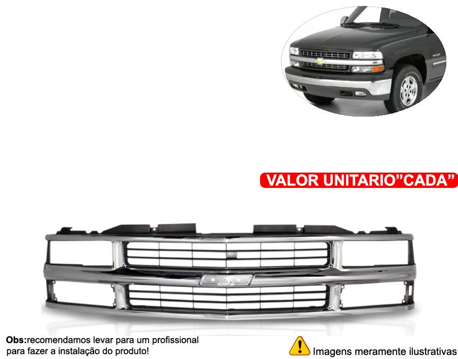 Grade Silverado Cromada 97 98 99 00 01 02 03 - Cabeça Car